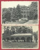 """Merbes-le-Château -Colonie """" La Sapinière """" -2 Cartes Postales-Château Et Plaine De Jeux ( Voir Verso ) - Merbes-le-Château"""