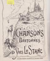 (GB3) Chansons Bretonnes , La Voix Des Flots , YVES LE STANG , Illustrateur : RADIGOIS - Partitions Musicales Anciennes
