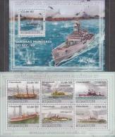 MOZAMBIQUE 2009 Battle Ship Sheet+MS - Space