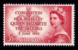 Australia 1953 Coronation 31/2d Queen Elizabeth MNH - - 1952-65 Elizabeth II : Pre-Decimals