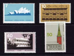 Australia 1975 Architecture Set Of 4 MNH - - 1966-79 Elizabeth II