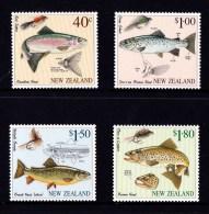 New Zealand 1997 Fly Fishing Set Of 4 MNH - New Zealand
