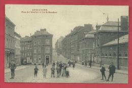 Verviers - Place De L'Abattoir Et Rue De Stembert - Belle Animation , Groupe De Gamins - 1911 ( Voir Verso ) - Verviers