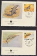 Congo 1987  WWF /   Crocodile  4v4 FDC  (W732) - W.W.F.