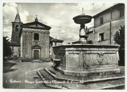 BETTONA PIAZZA GARIBALDI E CHIESA DI S.CRISPOLTO VIAGGIATA (MANCA F.BOLLO) FG - Perugia