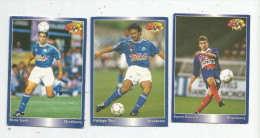 Carte De Collection , Official FOOTBALL Cards 1995 , PANINI , Strasbourg N° 196/194/189 , LOT DE 3 , Frais Fr : 1.50€ - Other Playing Cards
