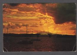 1974 NEW ZEALAND AUCKLAND HARBOR BRIDGE SUNSET FG V SEE 2 SCANS NICE STAMPS LEATHER JACKET & SEA HORSES - Nuova Zelanda