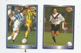 Carte De Collection , Official FOOTBALL Cards 1995 , PANINI , Nimes N° 5/191 , LOT DE 2 - Autres Jeux De Cartes