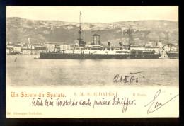 Un Saluto Da Spalato S.M.S. Budapest / Giuseppe Voltolini / Year 1900 / Old Postcard Circulated - Croatie
