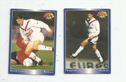 Carte De Collection , Official FOOTBALL Cards 1995 , PANINI , Bordeaux  N° 31/25 , LOT DE 2 - Trading Cards