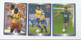Carte De Collection , Official FOOTBALL Cards 1995 , PANINI , Le Havre  N° 52/56/58 , LOT DE 3 , Frais Fr : 1.50€ - Other Playing Cards