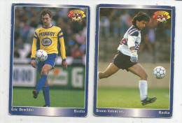 Carte De Collection , Official FOOTBALL Cards 1995 , PANINI , Bastia  N° 24/181, LOT DE 2 - Other Playing Cards