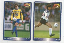 Carte De Collection , Official FOOTBALL Cards 1995 , PANINI , Bastia  N° 24/181, LOT DE 2 - Trading Cards