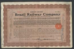 Common Shares BRAZIL RAILWAY COMPANY, August 3, 1909 - Railway & Tramway