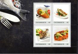ÖSTERREICH 2015 ** Fisch Spezialitäten - PM Kleinbogen MNH - Ernährung