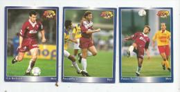Carte De Collection , Official FOOTBALL Cards 1995 , PANINI , Metz  N° 111/112/113 , LOT DE 3 , Frais Fr : 1.50€ - Other Playing Cards