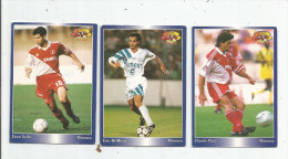Carte De Collection , Official FOOTBALL Cards 1995 , PANINI , Monaco  N° 122/123/94 , LOT DE 3 , Frais Fr : 1.50€ - Autres Jeux De Cartes