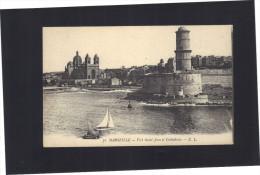 Marseille . Fort Saint - Jean Et Cathédrale .     Neuve . - Joliette, Port Area