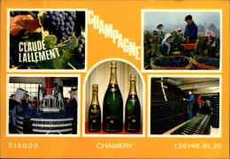 51 - CHAMERY - Champagne Lallement - Carte Pub - - France