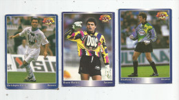 Carte De Collection , Official FOOTBALL Cards 1995 , PANINI , Auxerre  N° 14/17/177 , LOT DE 3 , Frais Fr : 1.50€ - Other Playing Cards