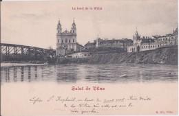 Vilna: Le Bord De La Wilija And Eglise Saint Raphaël/ Original Pic! - Litauen