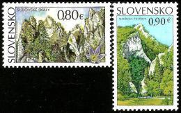 Slovakia - 2015 - Beauties Of Our Homeland - Sulov Rocks And Manin Gorge - Mint Stamp Set - Slowakische Republik