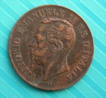2 Centesimi 1867 M - 1861-1878 : Victor Emmanuel II