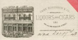 Etats Unis. Texas. Fort Worth - Entête Du 19 Décembre 1893. -Chas.Scheuber & Co. Wholesale - Liquors & Cigars. - United States