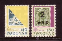 ISLAS FEROE AÑO 1979 YVERT Nº 37/38 ** MNH Sellos Nuevos Sin Fijasellos - EUROPA - HISTORIA POSTAL - Féroé (Iles)