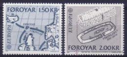 ISLAS FEROE AÑO 1982 YVERT Nº 64/65 ** MNH Sellos Nuevos Sin Fijasellos - EUROPA - HECHOS HISTORICOS - Féroé (Iles)