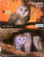 CYPRUS PHONECARD TYTO ALBA  5/07-20000pcs 0509CY-USED - Zangvogels