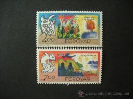 ISLAS FEROE AÑO 1995 YVERT Nº 272/73 ** MNH Sellos Nuevos Sin Fijasellos - EUROPA - PAZ Y LIBERTAD - Féroé (Iles)