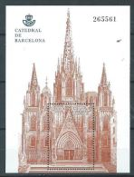 ESPAGNE ESPAÑA SPAIN 2012 CATHEDRAL CATEDRAL BARCELONA 2.90€ ED HB-4747 YV BF217-4434 MI B229-4729 SG MS4727 - Blocs & Feuillets