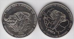 BENIN 1500 CFA 2003 Buffalo, Copper Nickel - Monete
