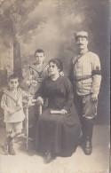 Enfants - Costume Marin - Carte-Photo - Militaria Père - Grupo De Niños Y Familias