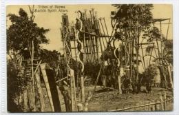 Myanmar Burma Tribes Of Burma Kachin Spirit Altars No.35 American Baptist Missions 1910-20s - Myanmar (Burma)