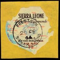SIERRA LEONE - Scott #C16 World's Fair, New York '64 / Used Stamp - Sonstige - Afrika