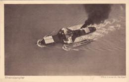 Rheindampfer Von Zeppelin - Luftschiff Postkarte - 2 Scans - Marine Schiffe Rhein - Deutschland