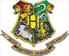 Harry Potter Hogwarts Crest Cartoon Sticker 13x8 Cm. Aprox. - Stickers
