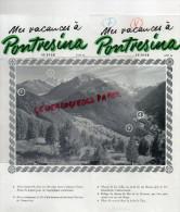 SUISSE - DEPLIANT TOURISTIQUE - PONTRESINA- GOLF ENGADINE- LAC DE STAZ- SKI- ALPINISME-  1939 - Reiseprospekte