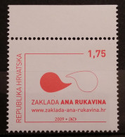 """Croatia, 2009, Charity """"Ana Rukavina"""" (MNH) - Croatie"""