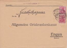 Bahnpost: Brief Von Möhringen - Geschäftspapiere - Mit Zugstempel Konstanz - Briefe U. Dokumente