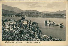 Verbania Cannero Castelli Di Lago Maggiore PIEGATA FG Cartolina HB4643 - Verbania