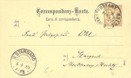 Correspondenz - Karte / Carta Di Corrispondenza 2 Kr Mit Schöne Stempel - Österreich