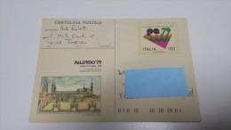Manifestazioni Filateliche Nazionali ITALY 1979 Cartolina Postale PALERMO 79 Postal Stationery ITALIA Italie Italien - Interi Postali