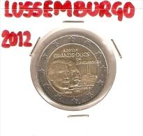 *LUSSEMBURGO - 2 Euro Commemorativo 2012: 100° DELLA MORTE DI GUGLIELMO IV