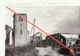 Grande Photo Signée Grand Duché De Luxembourg Guerre 40-45 WWII Ruines Nothum Wiltz - Guerre, Militaire