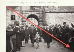 Grande Photo Signée Grand Duché De Luxembourg Guerre 40-45 WWII Wiltz Grande Duchesse - Guerre, Militaire