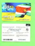 SURINAME - Remote Phonecard As Scan - Surinam