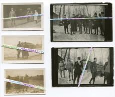 14-18 / 5 PHOTOS / OFFICIERS ET SOUS-OFFICIERS FRANCAIS AVEC DES DOUGHBOYS / 1918 / AEF / AMERICAN EXPEDITIONARY FORCES - Guerra, Militari